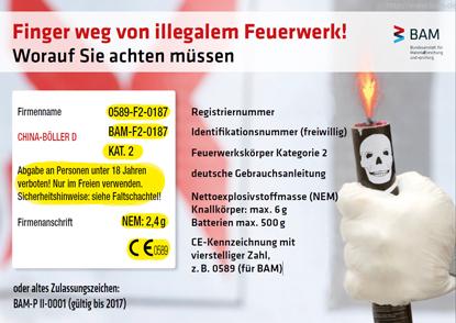 ACHTUNG: Vorsicht beim Abbrennen von Silvesterfeuerwerk