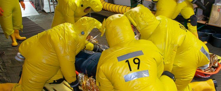Feuerwehr übt Chemieunfall